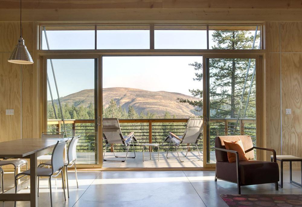 hermosas fotos de interiores de casas Diseo Pequea Casa De Campo Moderna Planos De Arquitectura