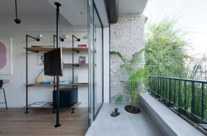Sala con terraza de apartamento