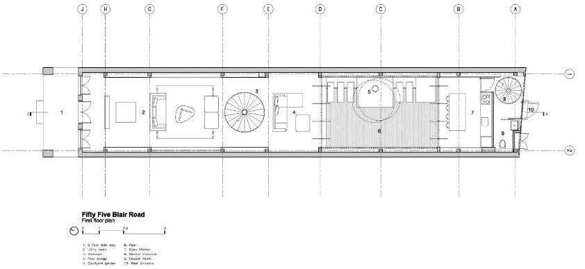 Dise o casa terreno largo angosto planos de arquitectura for Arquitectura planos y disenos