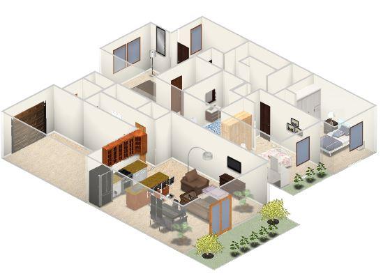 Dise o de casa peque a 84 m planos de arquitectura for Diseno de interiores un manual pdf