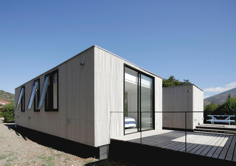 Casa de un piso en madera