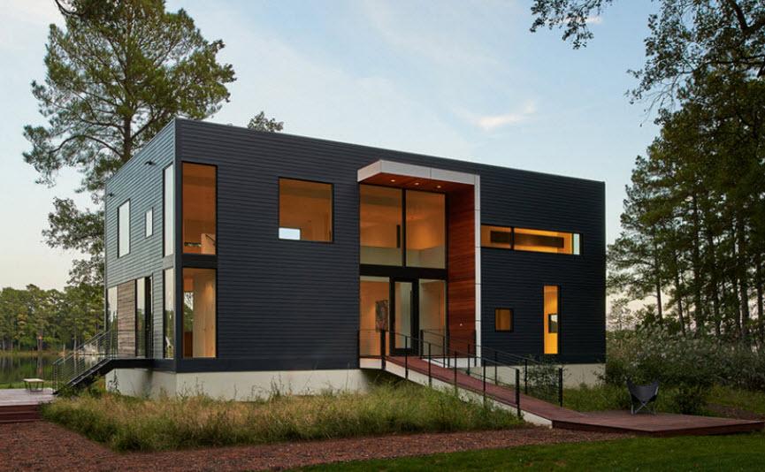 Casa moderna de dos pisos y tres dormitorios planos de for Casas pequenas de dos pisos modernas