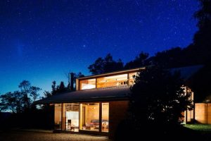 Casa en la noche