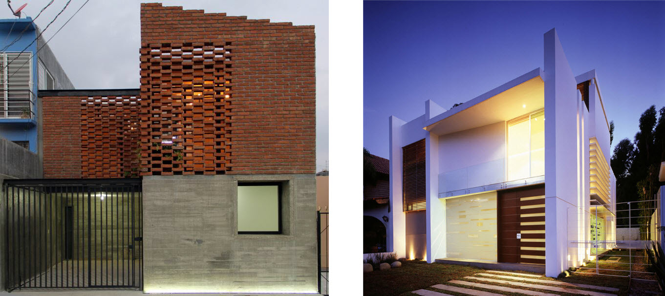 Casas modernas de dos pisos peque as planos de arquitectura for Casas pequenas de dos pisos modernas