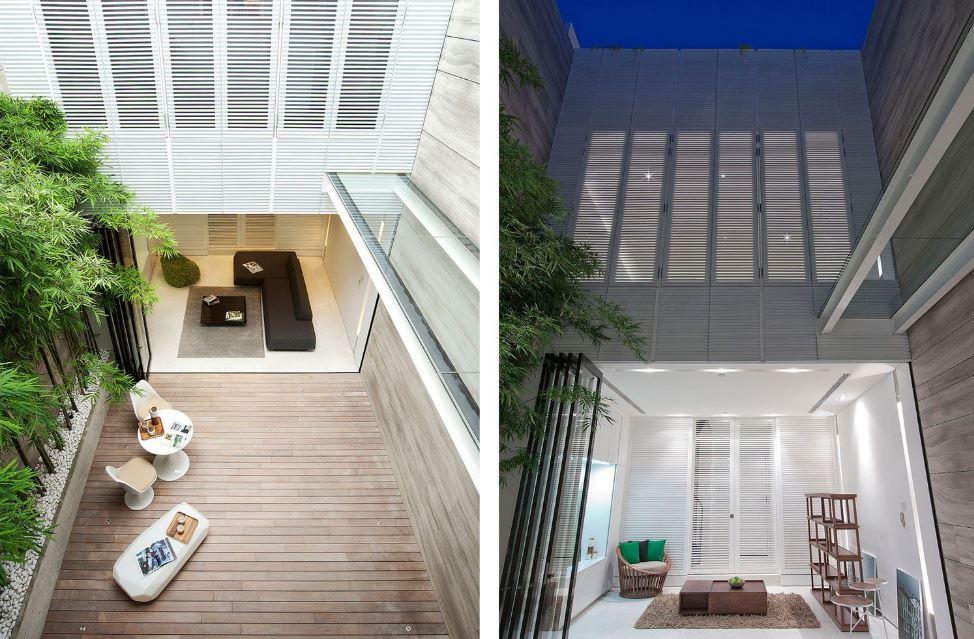 Planos de casa terreno angosto y largo planos de for Cerramientos de interiores