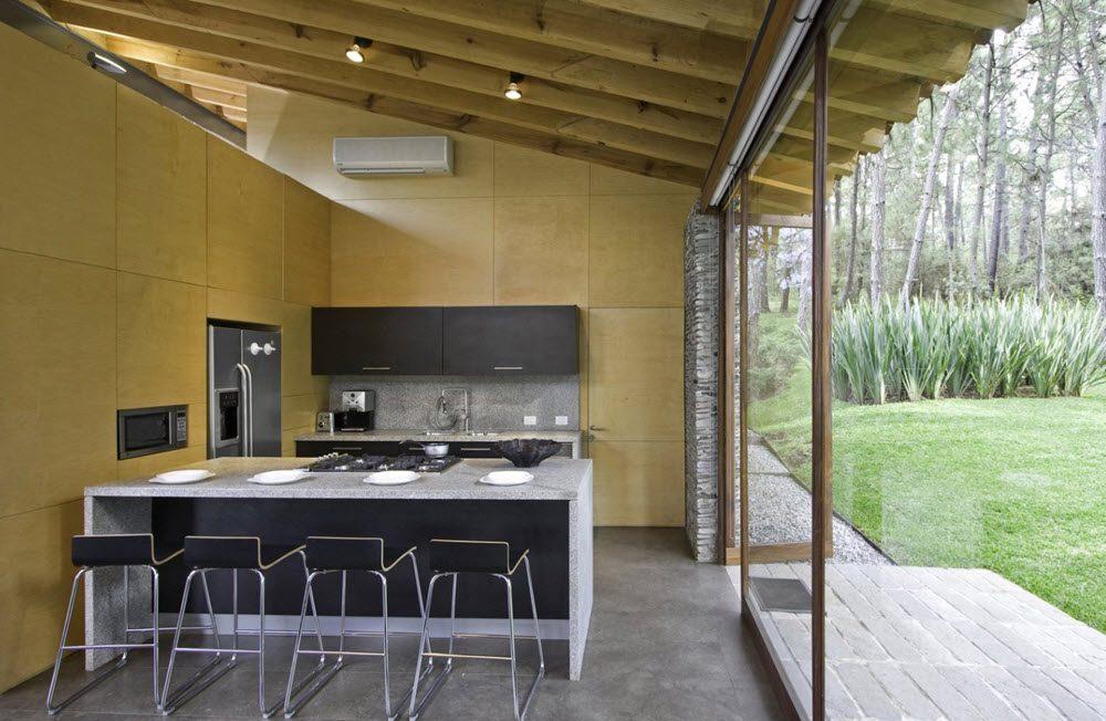 Diseño de cocina moderna casa de campo