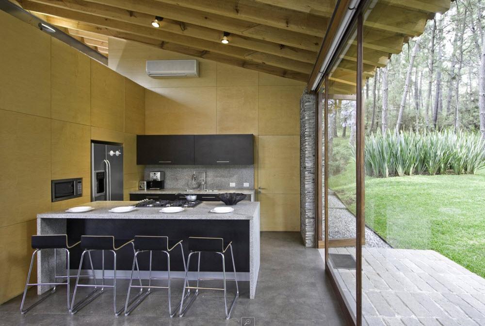 Dise o casa de campo moderna planos de arquitectura for Disenos de cocinas campestres