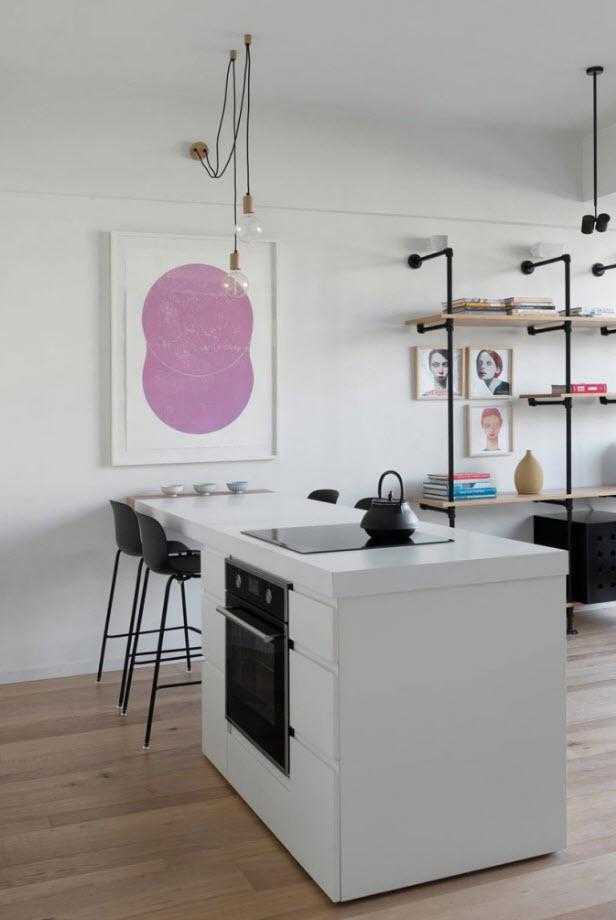 Isla de cocina color blanco
