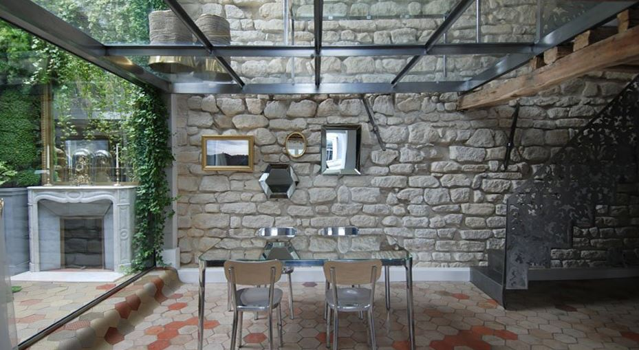 Combinacin de materiales modernos con rsticos Planos de Arquitectura