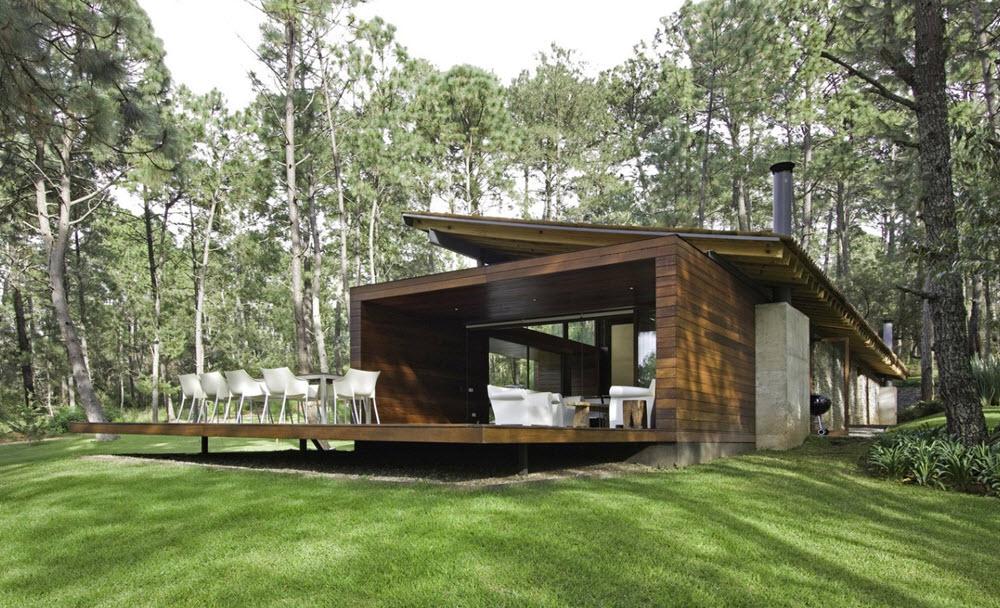 Dise o casa de campo moderna planos de arquitectura for Diseno casa en l