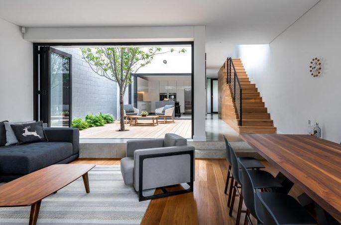 Dise o casa peque a dos pisos planos de arquitectura for Diseno de interiores espacios reducidos