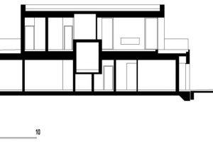 Corte de la casa de dos pisos