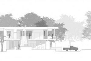 Corte de la moderna casa