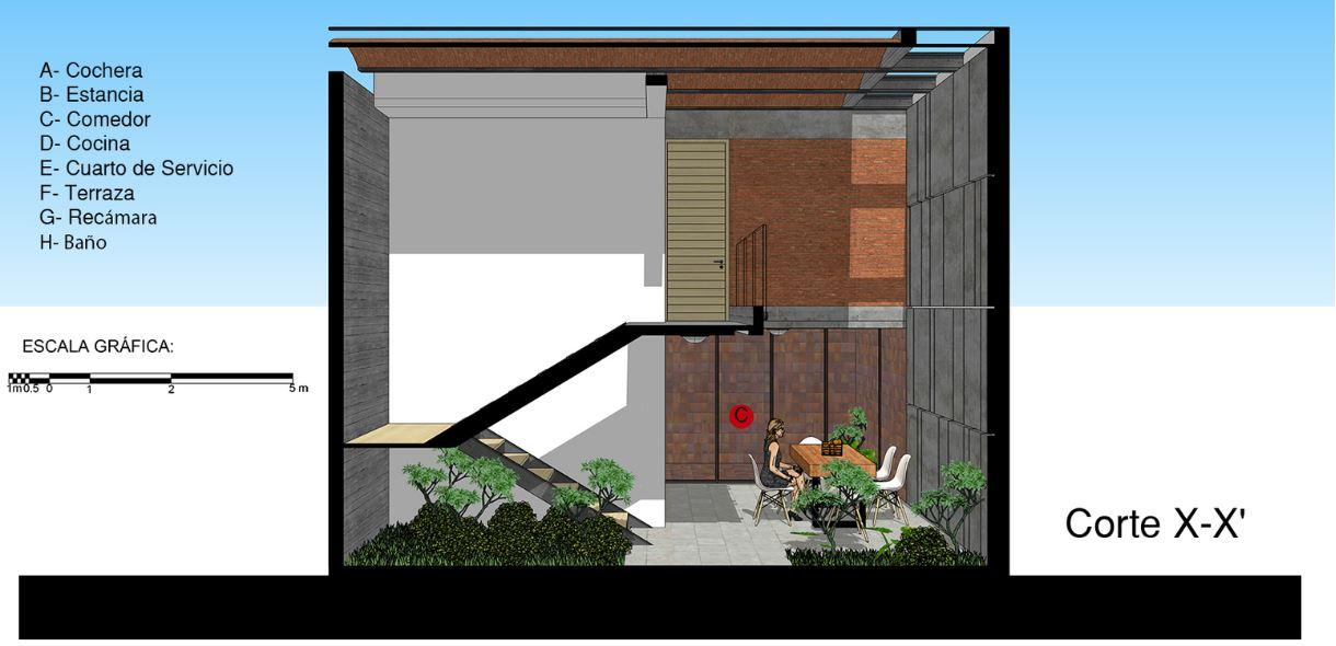 Dise o casa peque a y econ mica 105 m planos de for Diseno de casas pequenas exteriores