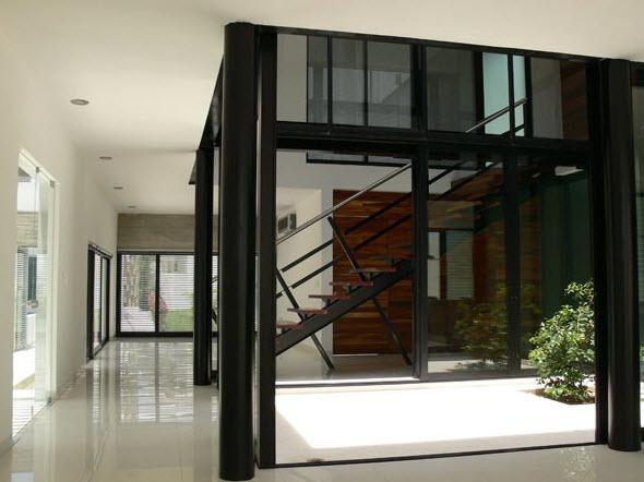 Planos casa moderna de dos pisos planos de arquitectura for Planos de casas con patio interior