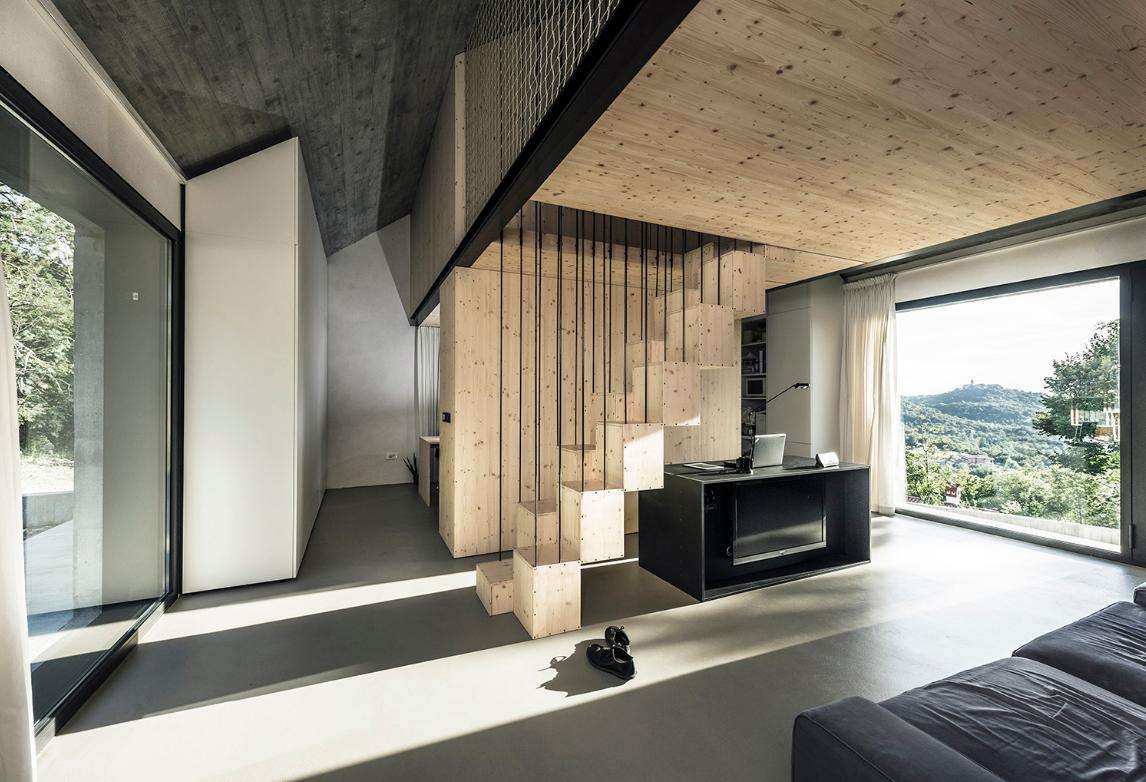 Diseño de pequeña y moderna sala