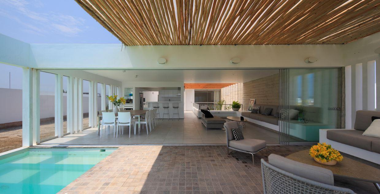 Dise o de moderna casa de playa planos de arquitectura for Diseno de interiores de casas planos