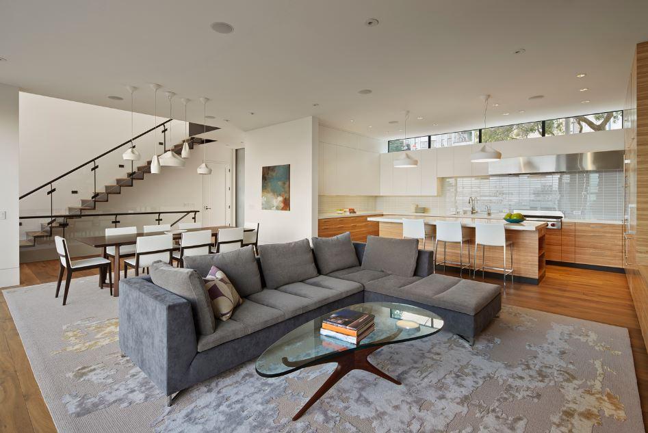 Dise o de moderna casa construida en terreno en desnivel for Diseno de interiores zona oeste