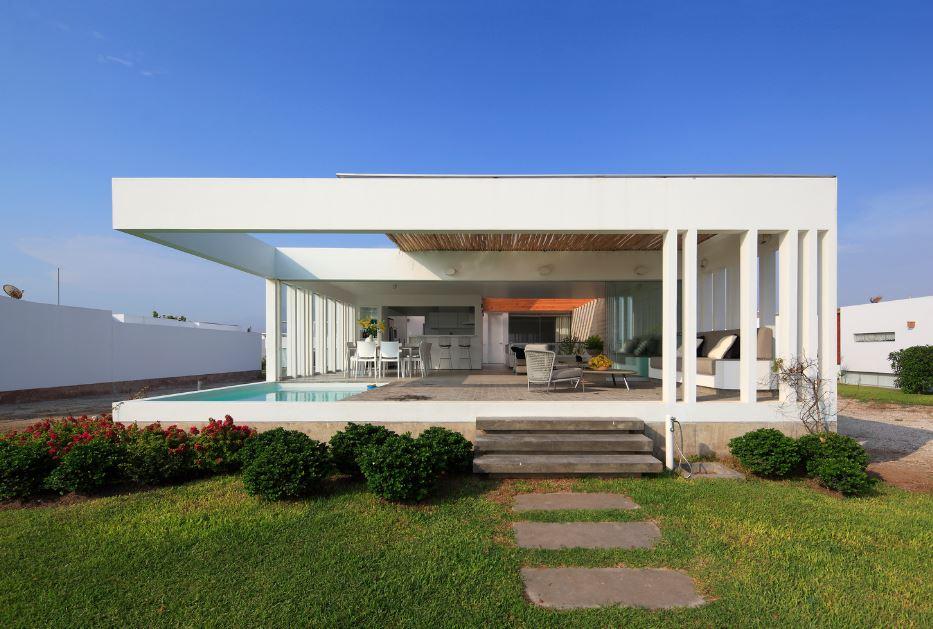 Casa de playa de un piso moderna