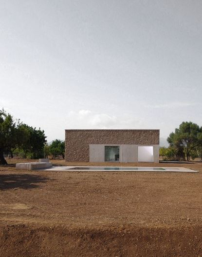 Fachada principal casa de campo