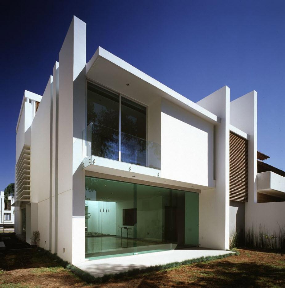 Dise o casa de dos pisos moderna planos de arquitectura for Diseno casa en l