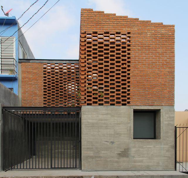 Dise o casa peque a y econ mica 105 m planos de - Materiales de construccion para fachadas ...