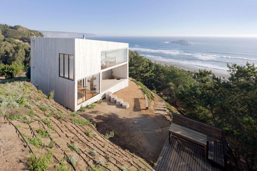 Dise o casa peque a de playa planos de arquitectura for Diseno de frente de casa pequena