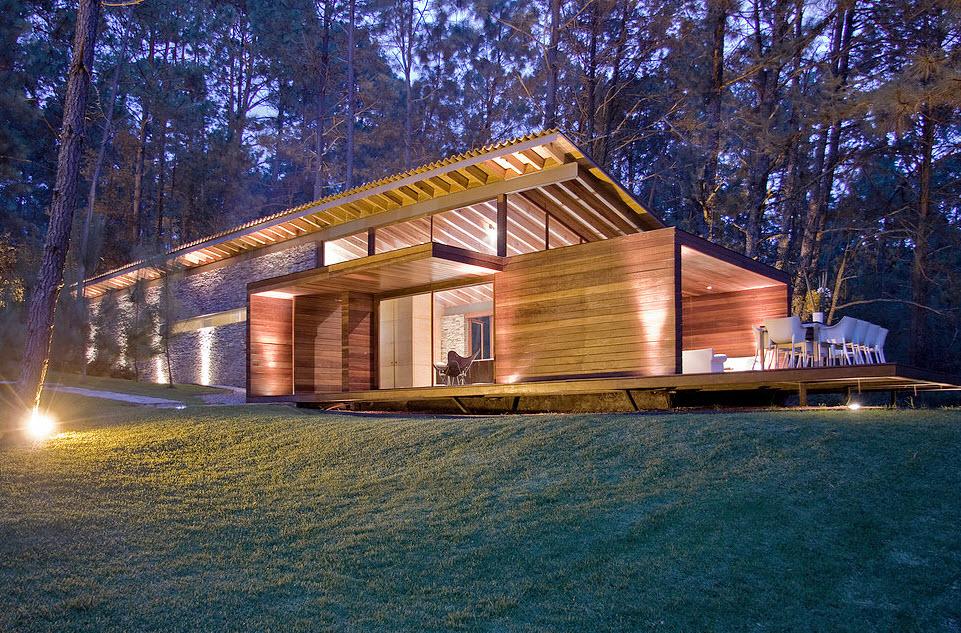 Dise o casa de campo moderna planos de arquitectura - Casas de madera diseno moderno ...