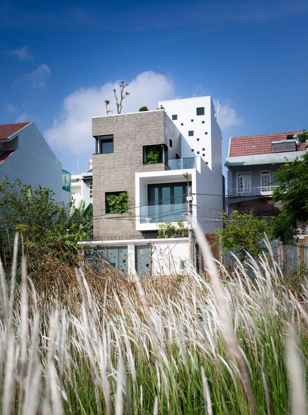 Dise o de casa moderna 112 m planos de arquitectura for Fachadas de casas de 3 pisos modernas