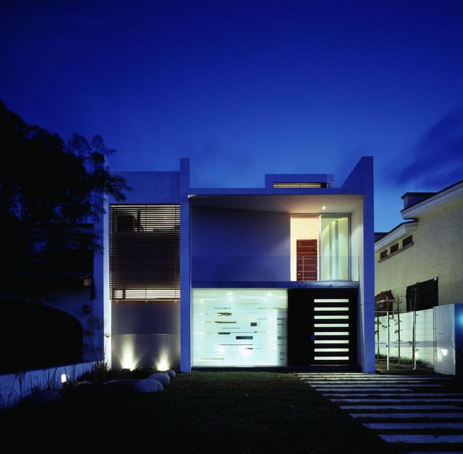 Dise o casa de dos pisos moderna planos de arquitectura - Diseno de planos de casas ...