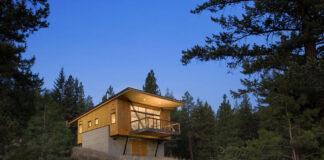Hermosa cabaña en madera y concreto
