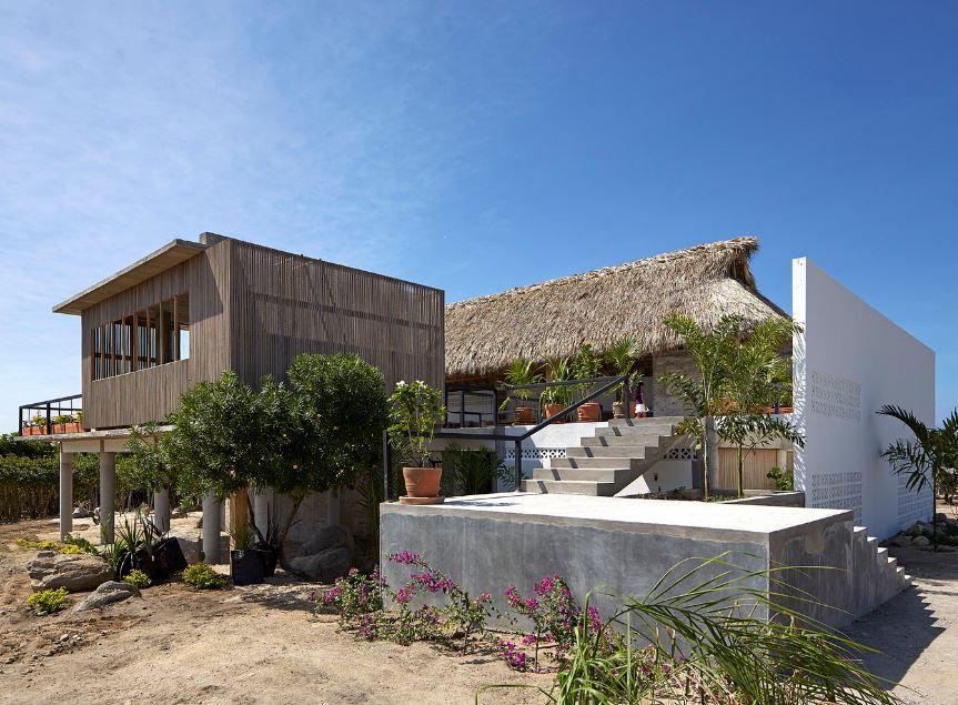Hermosa casa de playa en concreto