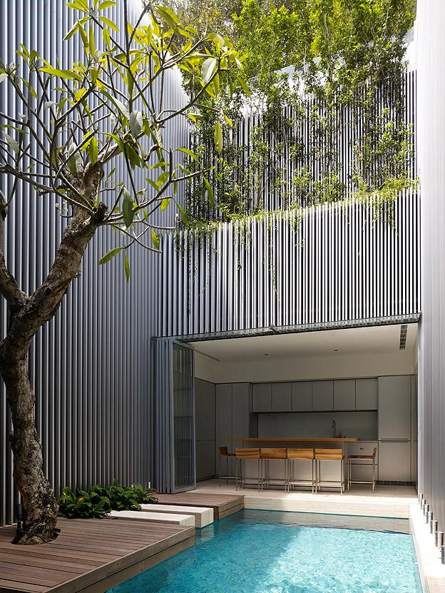 Hermosa casa resalta con los materiales utiizados