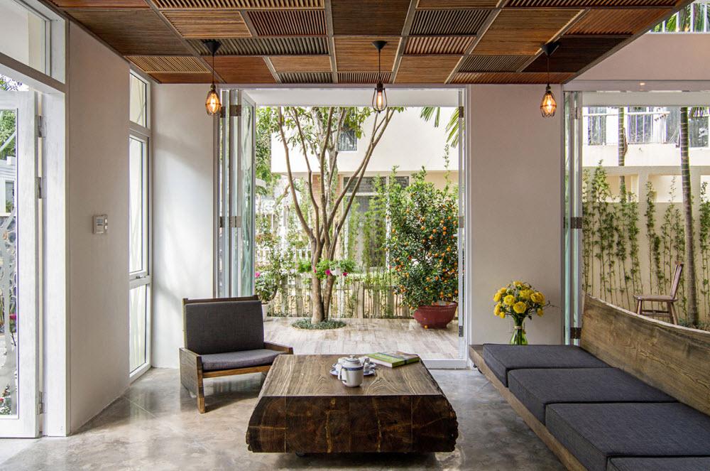 Diseño de interiores con mosaicos de madera
