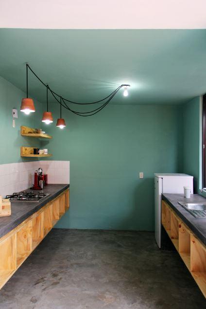 Interior de la cocina pequeña