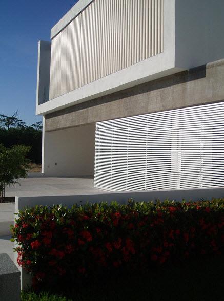 Moderna fachada exterior