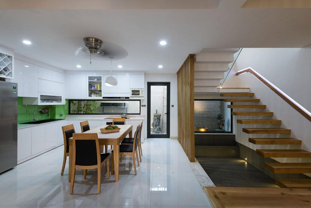 Dise o de casa moderna 112 m planos de arquitectura for Ambientes interiores de casas