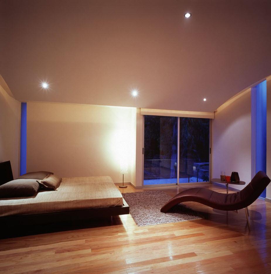 Moderno diseño de dormitorio principal