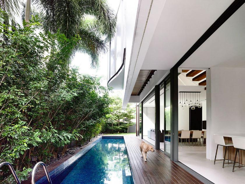 Moderno diseño exterior mantien relacion con su interior