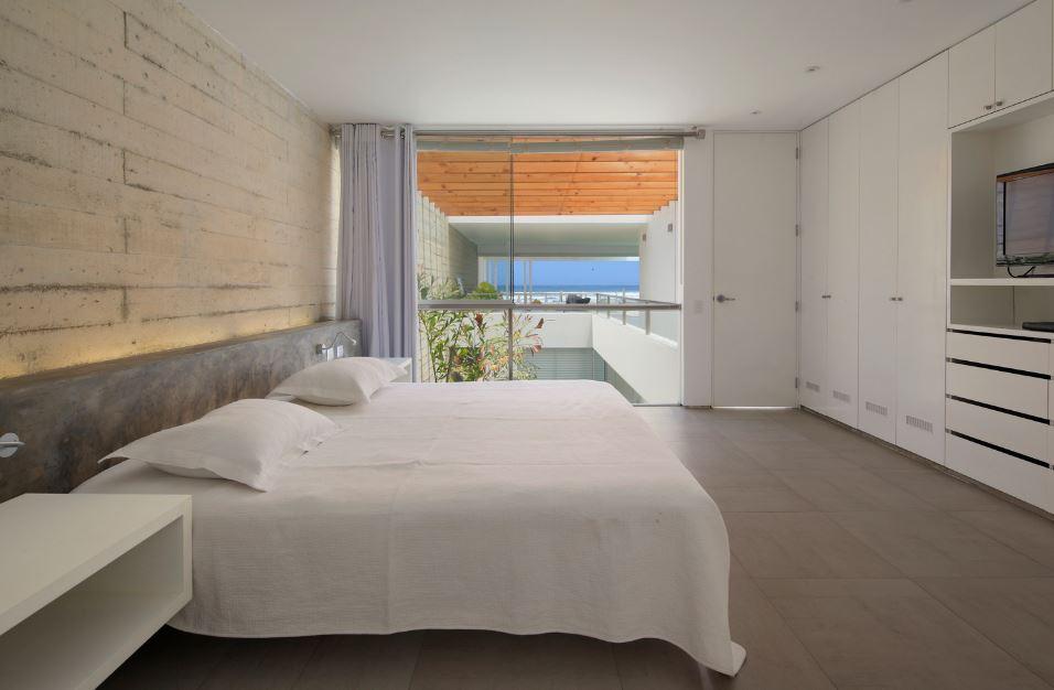 Diseño de dormitorio de casa de playa
