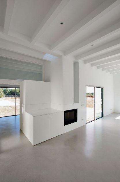 Diseño de interiores de casa rural
