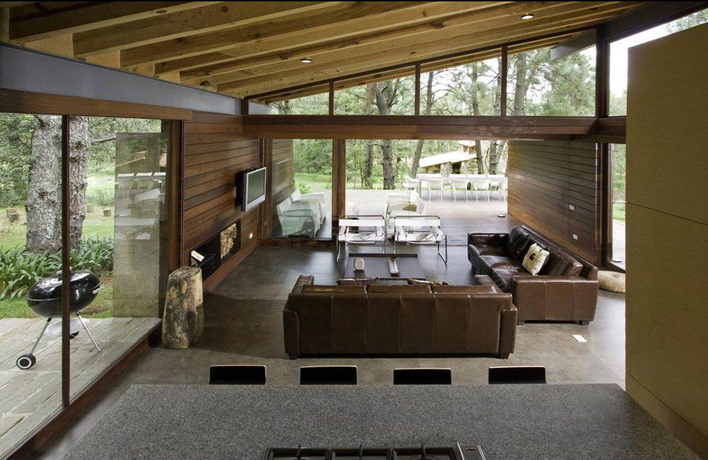 Dise o casa de campo moderna planos de arquitectura - Interiores modernos de casas ...