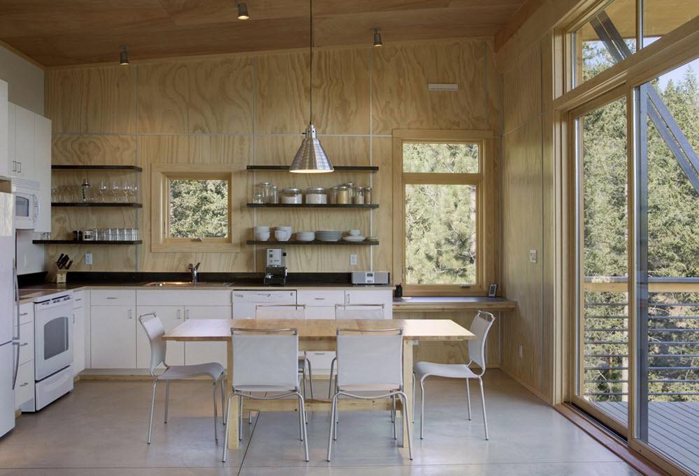 diseo de cocina de casa de campo modernos interiores en madera