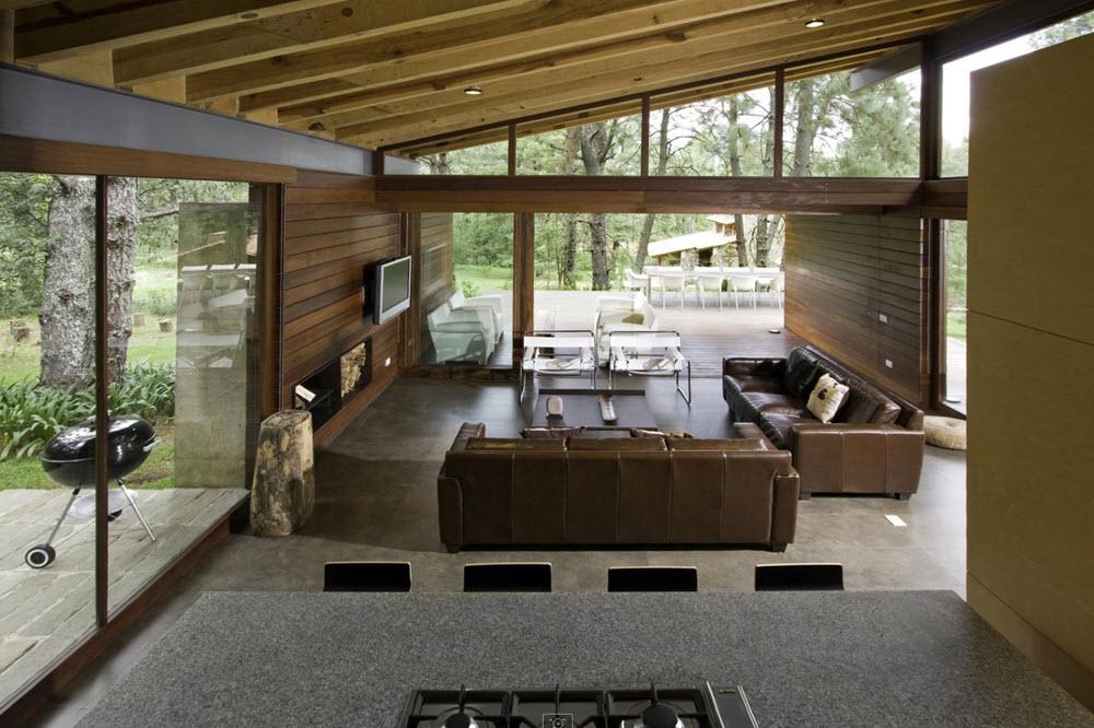 Dise o casa de campo moderna planos de arquitectura Planos interiores de casas modernas