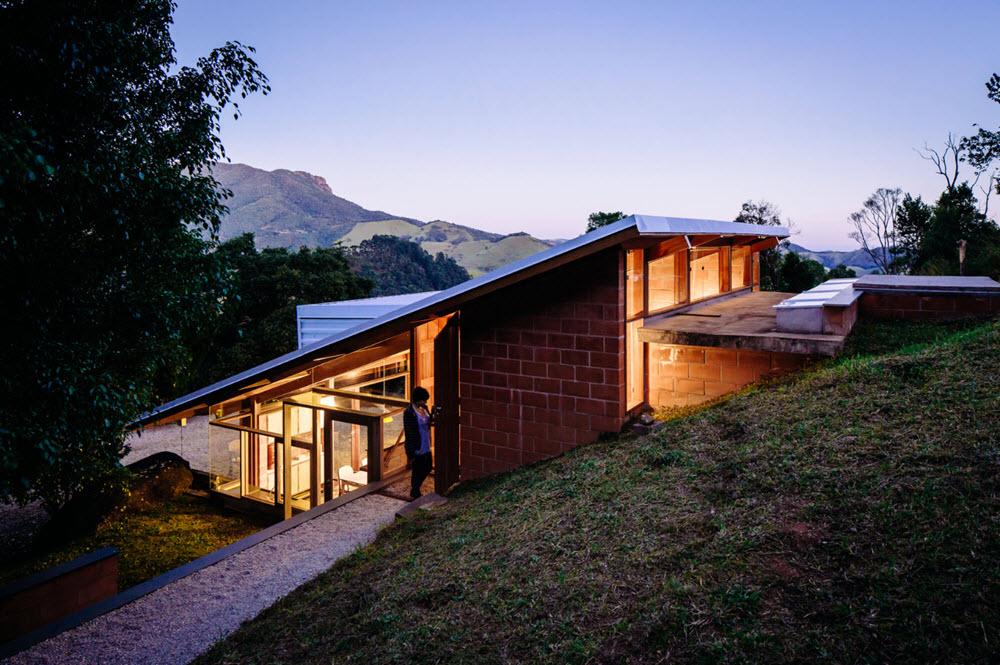 Dise o casa de campo tres dormitorios planos de arquitectura for Casa de campo arquitectura