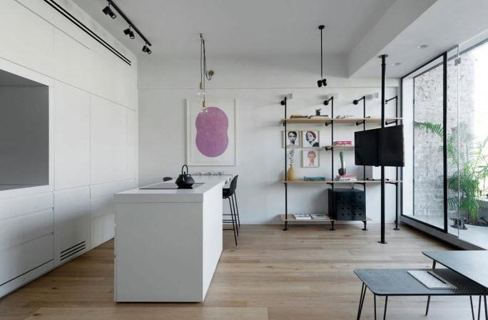 Diseño de pequeña cocina comedor de apartamento