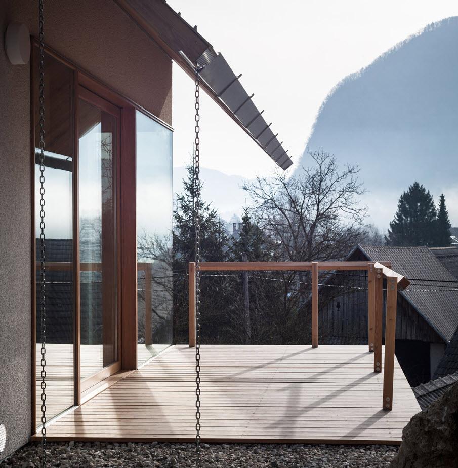 Pequeña terraza en madera