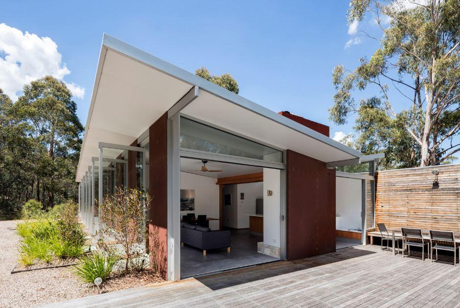 Perspectiva de la casa de campo moderna