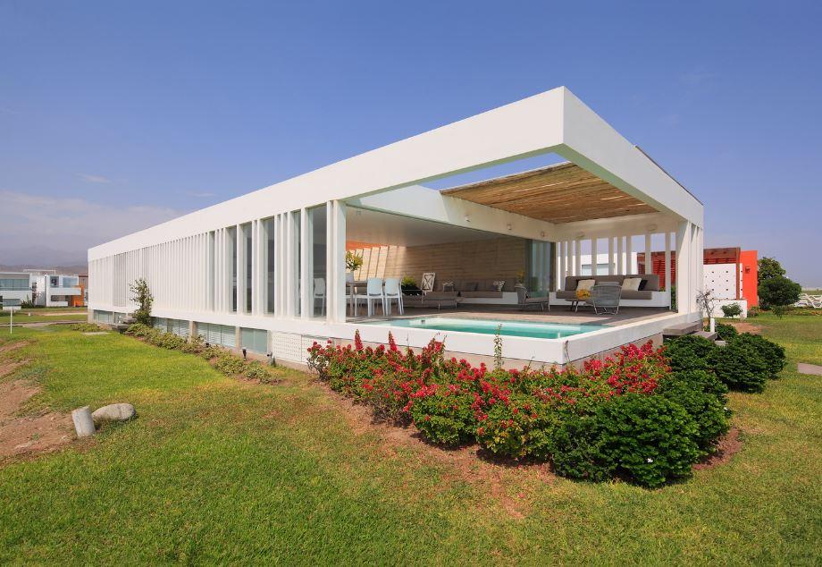Casa de playa moderna de un piso