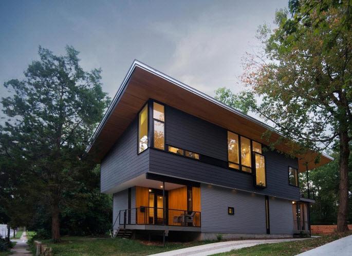 Diseño de casa de dos pisos autosustentable